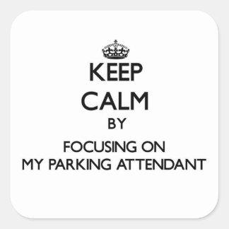 Gardez le calme en se concentrant sur mon gardien sticker carré