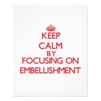Gardez le calme en se concentrant sur prospectus