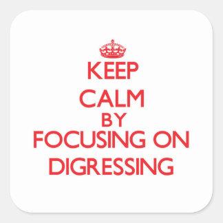 Gardez le calme en se concentrant sur s écarter stickers carrés