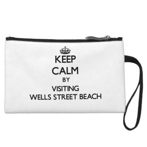 Gardez le calme en visitant la plage Indiana de ru Pochette Avec Anse