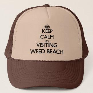 Gardez le calme en visitant la plage le casquette