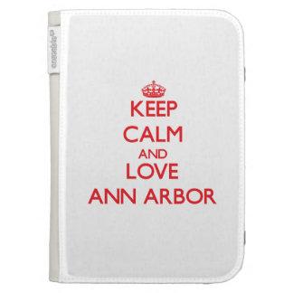 Gardez le calme et aimez Ann Arbor Coques Pour Kindle