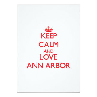 Gardez le calme et aimez Ann Arbor Faire-parts