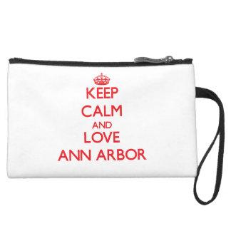 Gardez le calme et aimez Ann Arbor Pochette Avec Poignée