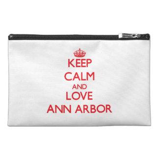 Gardez le calme et aimez Ann Arbor Trousses À Accessoires De Voyage