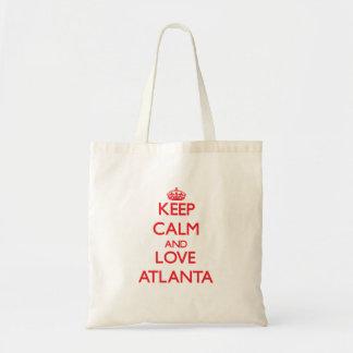 Gardez le calme et aimez Atlanta Sacs En Toile