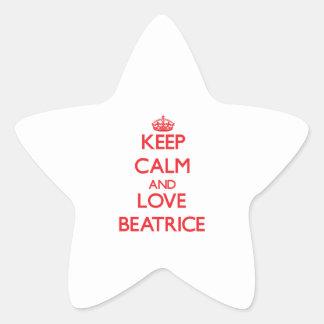 Gardez le calme et aimez Béatrice Sticker En Étoile