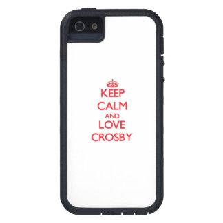 Gardez le calme et aimez Crosby Coques iPhone 5 Case-Mate