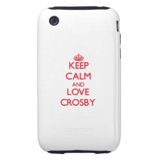 Gardez le calme et aimez Crosby Coque Tough iPhone 3