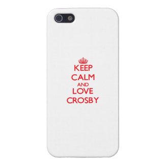 Gardez le calme et aimez Crosby Coque iPhone 5