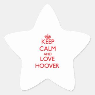 Gardez le calme et aimez Hoover Autocollants