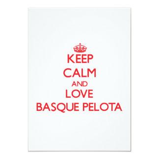 Gardez le calme et aimez la pelote basque Basque Invitations