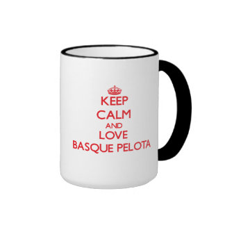 Gardez le calme et aimez la pelote basque Basque Tasse