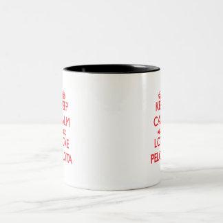 Gardez le calme et aimez la pelote basque mugs à café