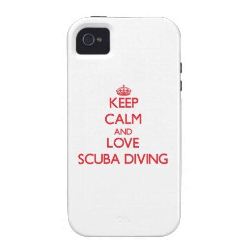 Gardez le calme et aimez la plongée à l'air iPhone 4/4S case