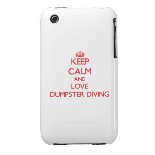 Gardez le calme et aimez la plongée de décharge coques iPhone 3 Case-Mate