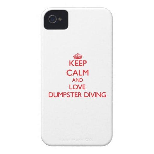 Gardez le calme et aimez la plongée de décharge étui iPhone 4