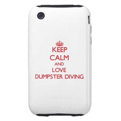 Gardez le calme et aimez la plongée de décharge coque iPhone 3 tough