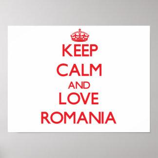 Gardez le calme et aimez la Roumanie Posters
