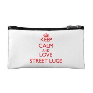 Gardez le calme et aimez la rue Luge Trousse Make-up
