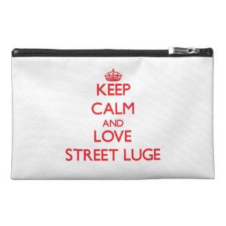 Gardez le calme et aimez la rue Luge Trousses À Accessoires De Voyage