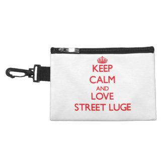 Gardez le calme et aimez la rue Luge Trousse Pour Accessoires