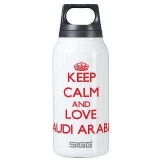 Gardez le calme et aimez l'Arabie Saoudite Bouteilles Isotherme