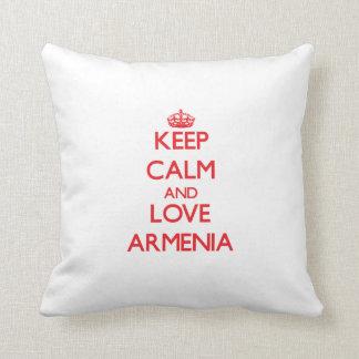 Gardez le calme et aimez l'Arménie Coussin Décoratif