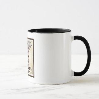 Gardez le calme et aimez le café d'éléphants/tasse mug