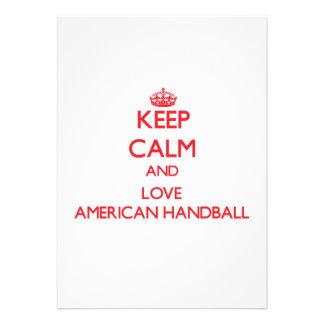 Gardez le calme et aimez le handball américain invitation