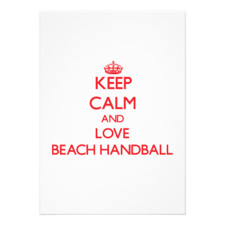 Gardez le calme et aimez le handball de plage faire-part personnalisés