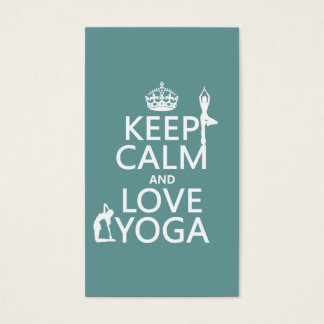 Gardez le calme et aimez le yoga (les couleurs cartes de visite
