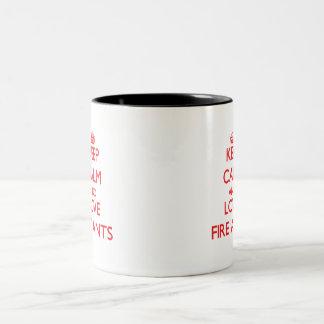 Gardez le calme et aimez les fourmis de feu tasse 2 couleurs