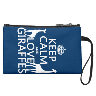 Gardez le calme et aimez les girafes - toutes les pochette avec poignée