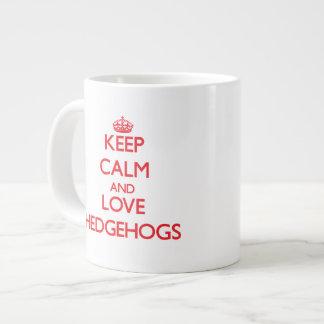 Gardez le calme et aimez les hérissons mug