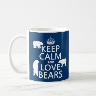 Gardez le calme et aimez les ours (dans toutes les mug
