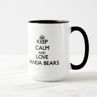 Gardez le calme et aimez les ours panda mug