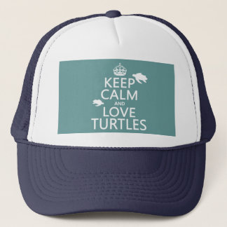 Gardez le calme et aimez les tortues (toute casquette