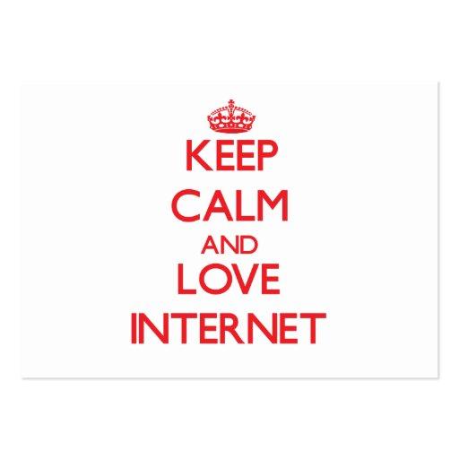 Gardez le calme et aimez l'Internet Cartes De Visite Personnelles