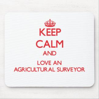 Gardez le calme et aimez un arpenteur agricole tapis de souris