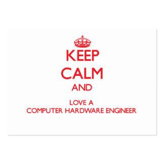 Gardez le calme et aimez un ingénieur de matériel  modèles de cartes de visite