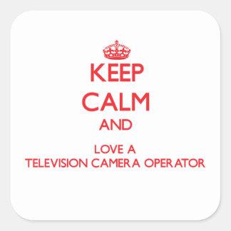 Gardez le calme et aimez un opérateur de caméra de autocollants