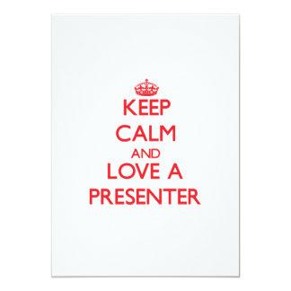 Gardez le calme et aimez un présentateur invitations