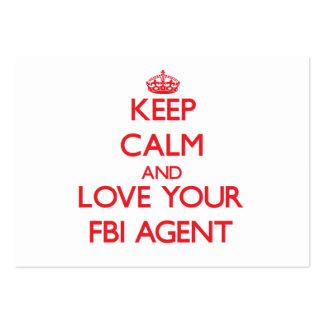 Gardez le calme et aimez votre agent du FBI Carte De Visite Grand Format