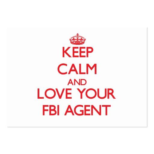 Gardez le calme et aimez votre agent du FBI Cartes De Visite Professionnelles