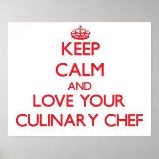 Gardez le calme et aimez votre chef culinaire