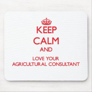 Gardez le calme et aimez votre conseiller agricole tapis de souris