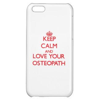 Gardez le calme et aimez votre ostéopathe étuis iPhone 5C