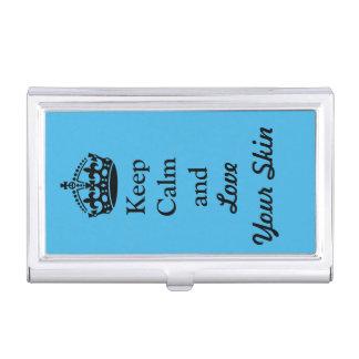 Gardez le calme et aimez votre peau boîtier pour cartes de visite