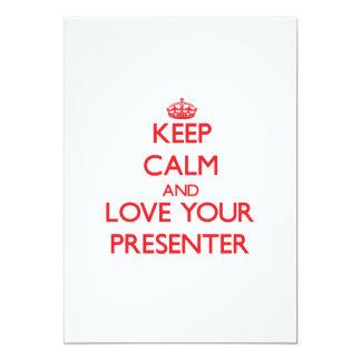 Gardez le calme et aimez votre présentateur invitation